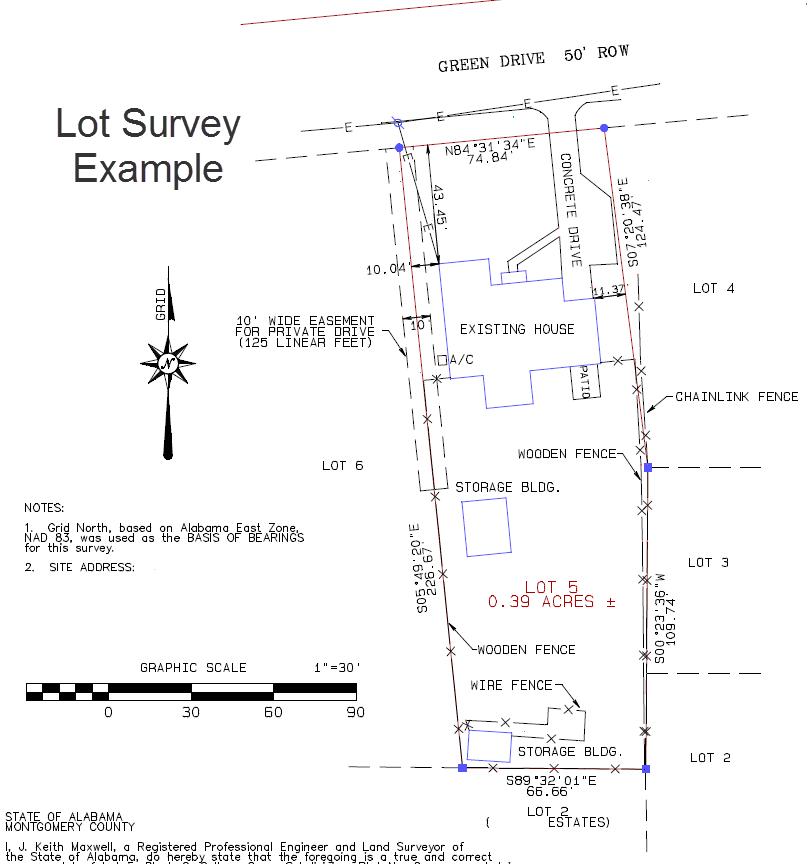 Lot Survey example